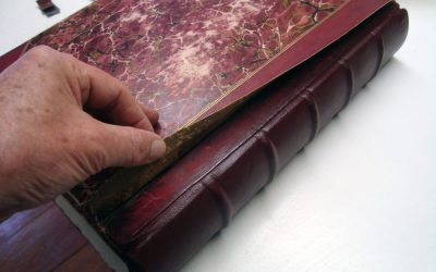 Book conservation and repair: leather-bound books